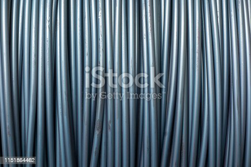 Construction rebar steel work reinforcement in concrete structure of building