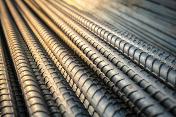 건물의 conncrete 구조에서 건설 철강 철근 작업 보강 - 봉 뉴스 사진 이미지