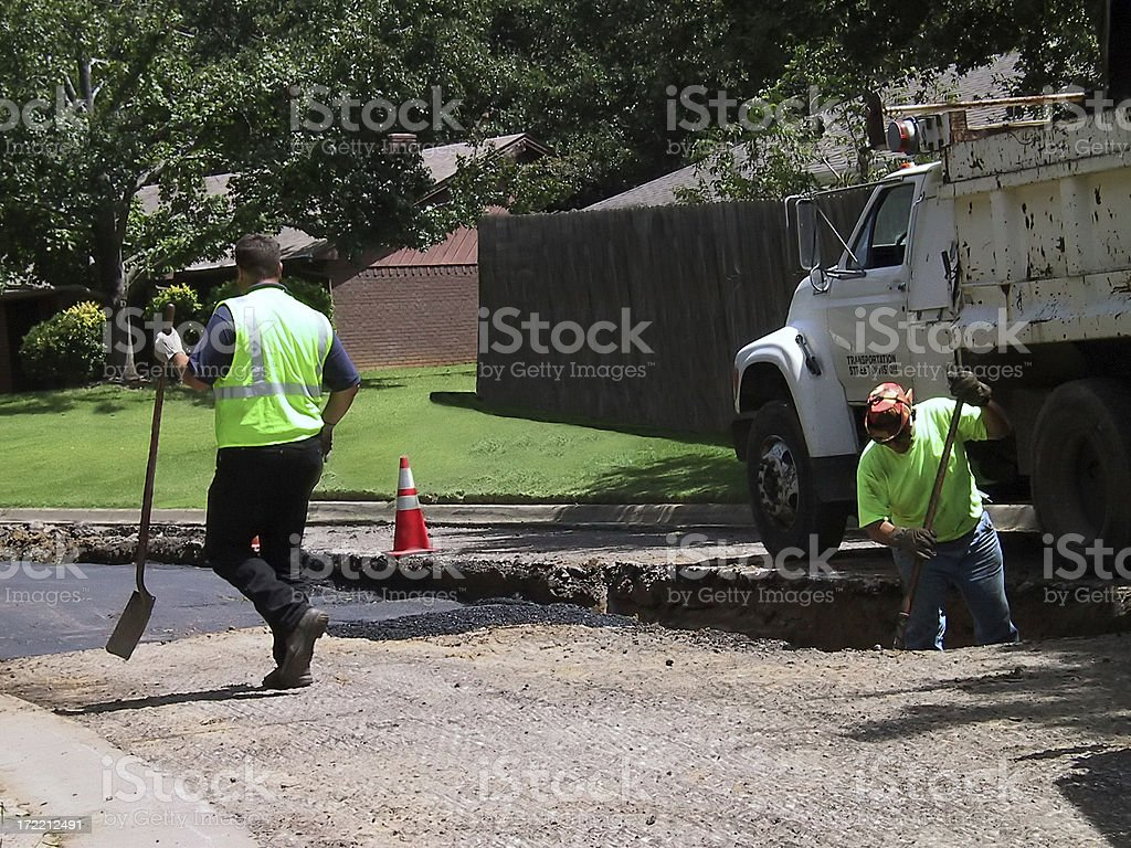 Construction - Road Repair royalty-free stock photo