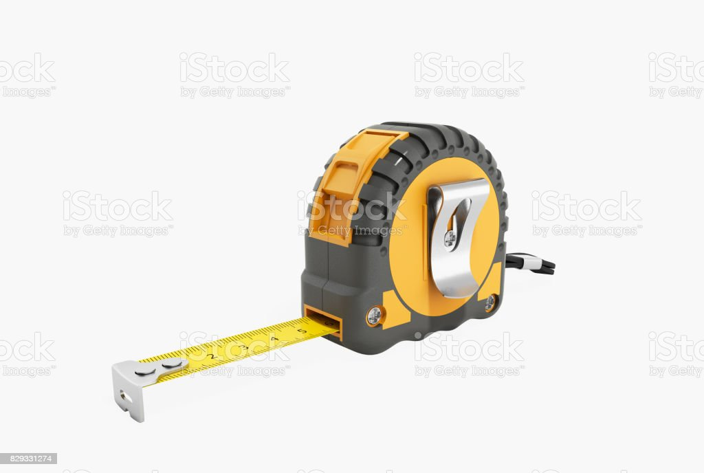 Construction roulette 3d render on a white background stock photo