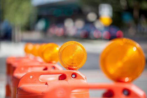 Road construction safety barrels