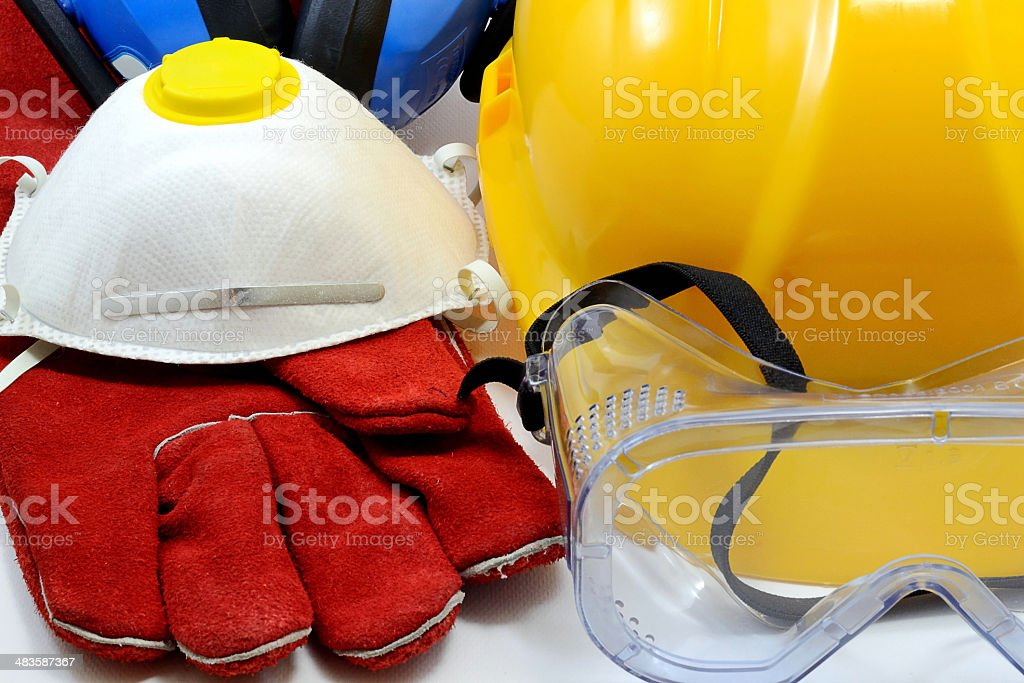 Construction safety equipment stock photo