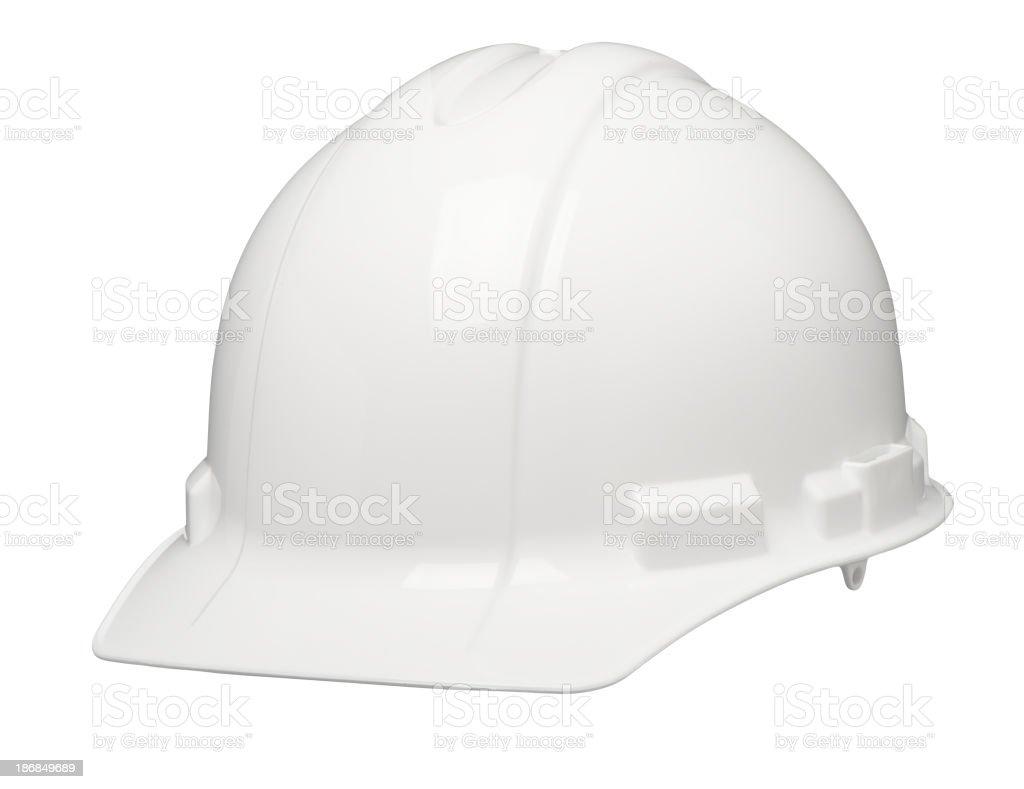 Construction Safety Hardhat Helmet Isolated on White Background stock photo