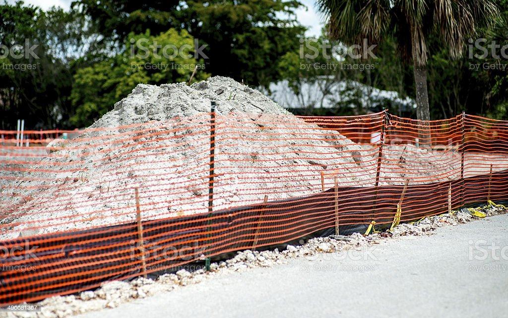 Construction Sand Mound royalty-free stock photo