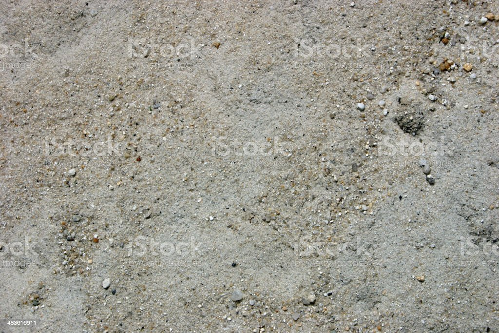 Construction sand (Texture) royalty-free stock photo