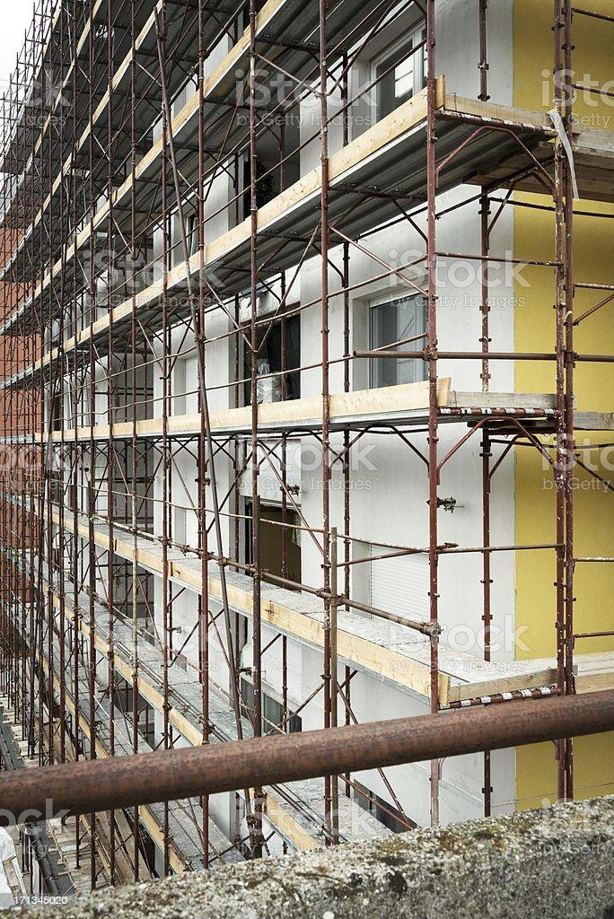 Construction Scaffolding royalty-free stock photo