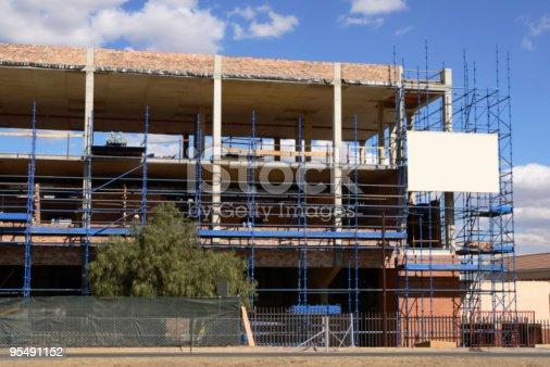 istock Construction scafolding - horizontal 95491152