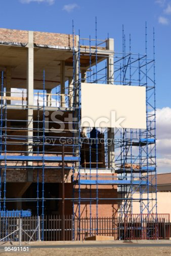 istock Construction scafolding - vertical 95491151
