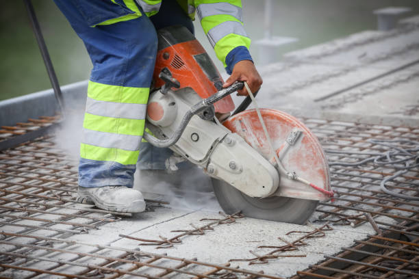 Construction scene stock photo