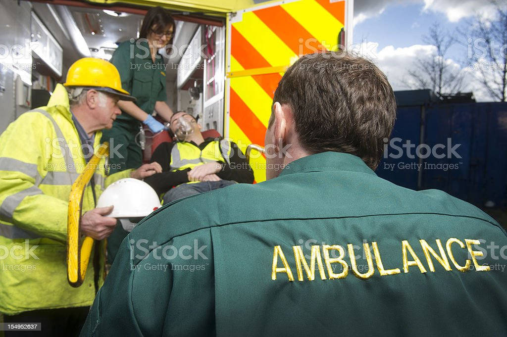 construction site accident royalty-free stock photo