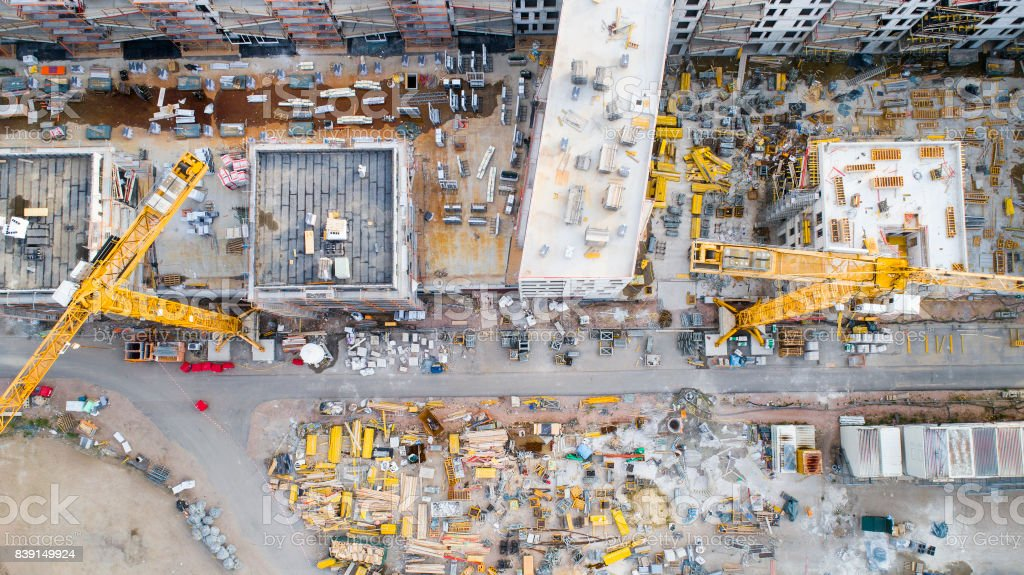 Construction site - aerial view - foto stock