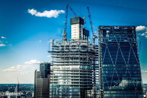 istock Construction site and development in the city 1139864421