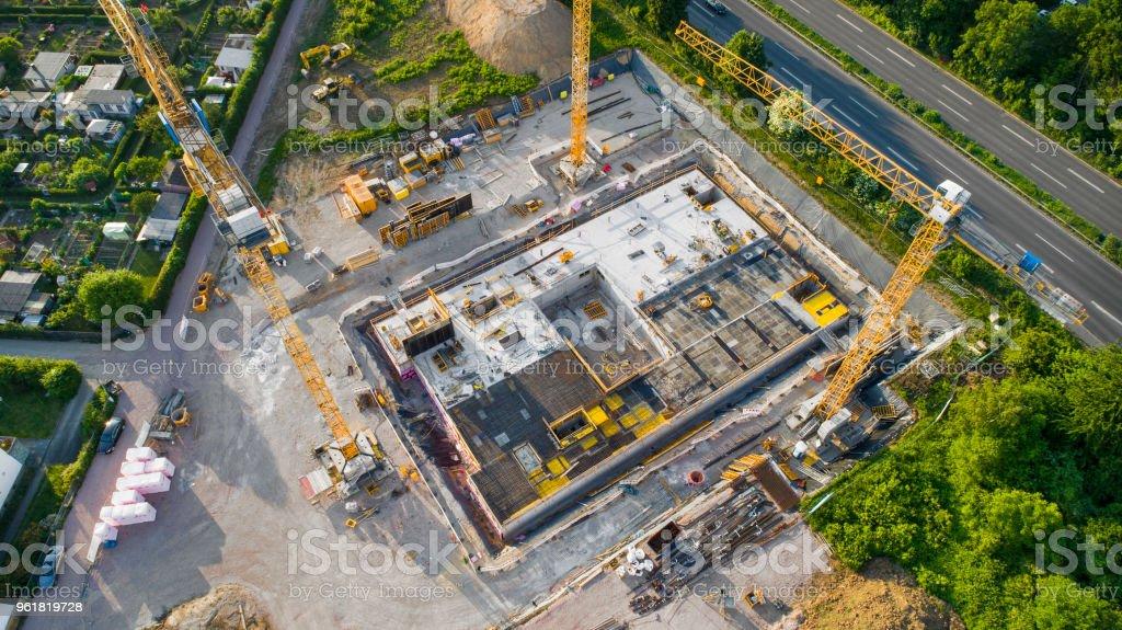 Baustelle und Ausrüstung - Luftbild – Foto