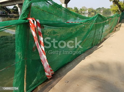 istock Construction Site and safety warning sign 1068602754