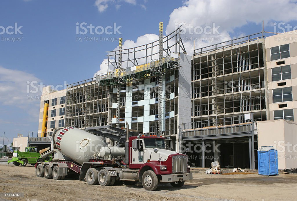 Construction Site and Truck royalty-free stock photo