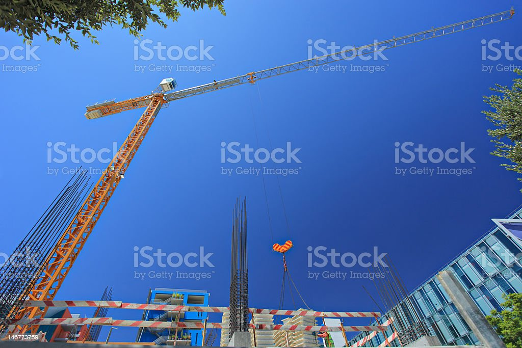 Construction site at Expo 98 suburb, Lisbon royalty-free stock photo