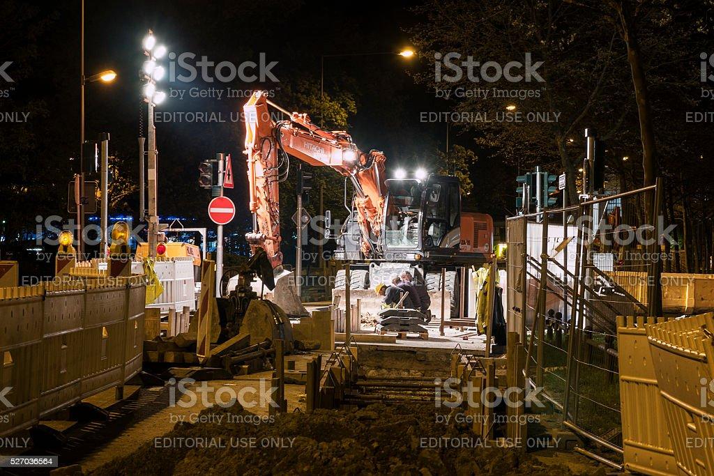 Baustelle bei Nacht – Foto