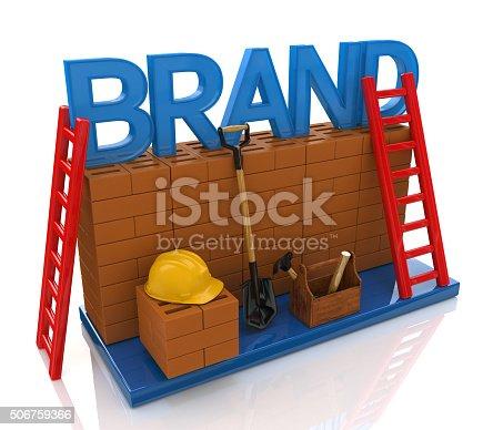 istock Construction site building brand text idea concept 506759366