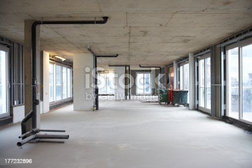 Picture of a construction site building interior.