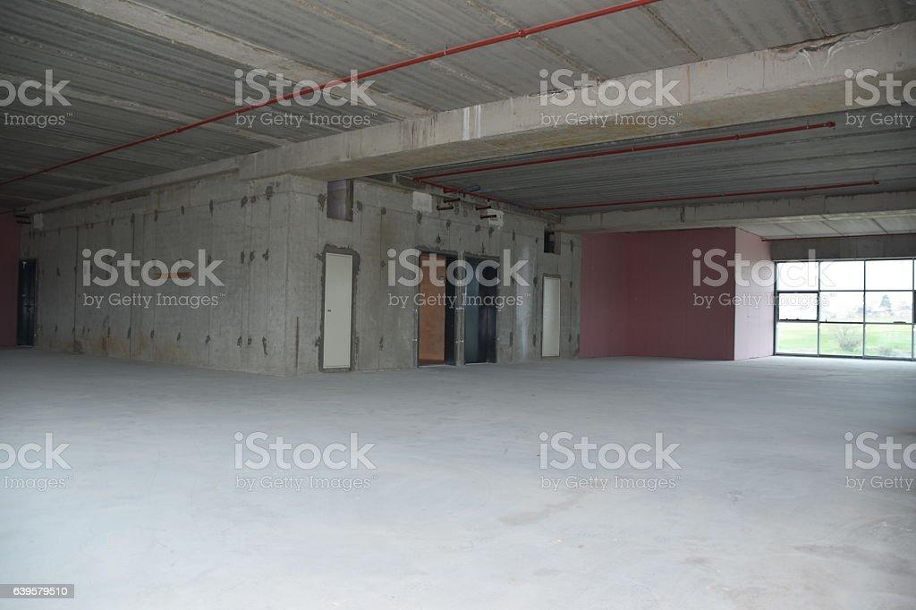 Construction site building interior stock photo