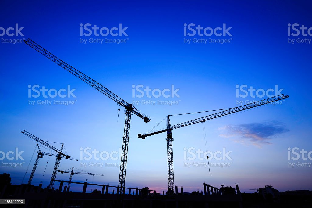 construction site - cranes royalty-free stock photo