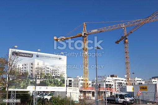 istock Construction site Europaviertel Frankfurt - Pariser Strasse 496352646
