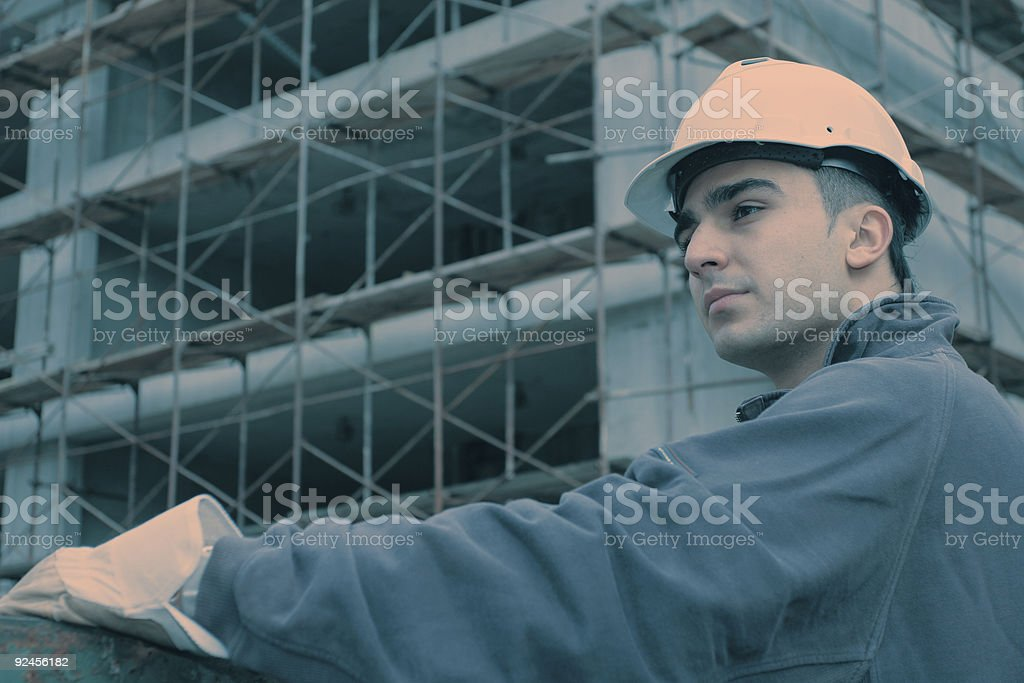 Construction site fashion stock photo