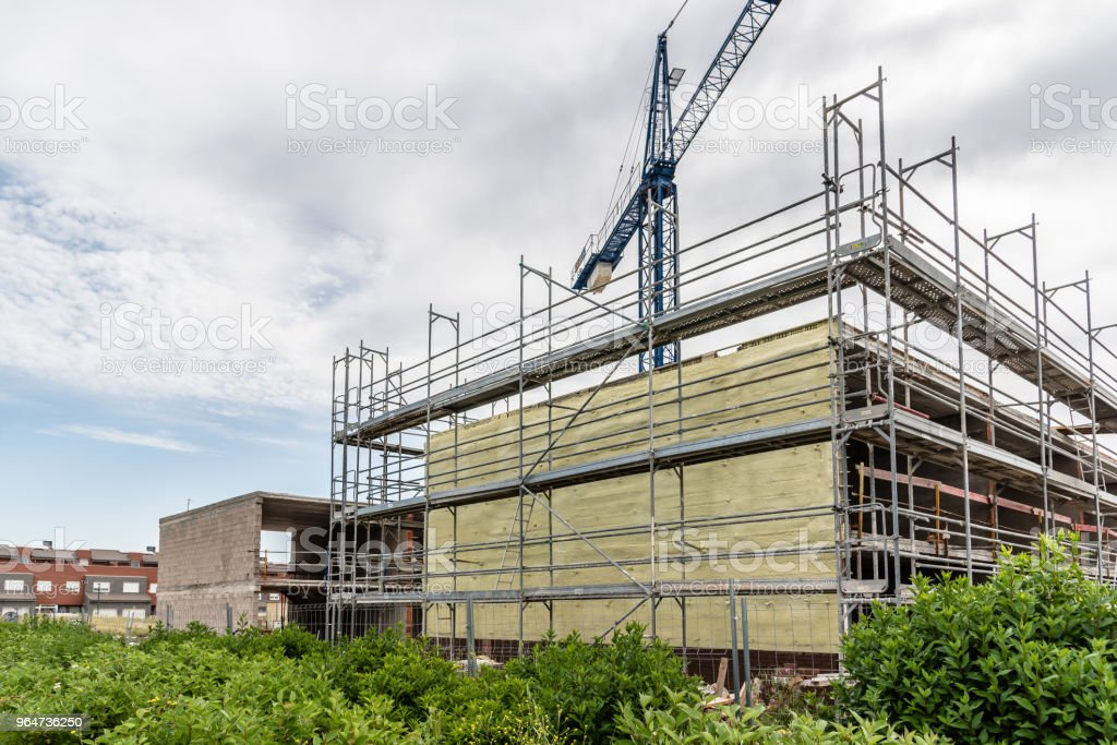 Construction site for housing development royalty-free stock photo