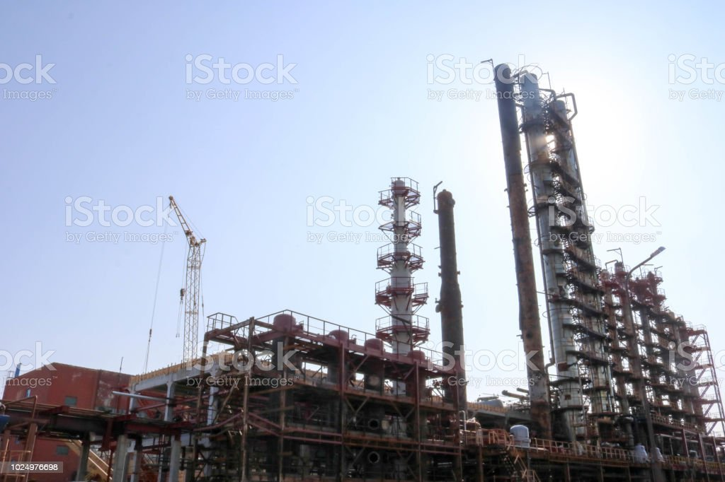 Construction Site For The Construction Of An Oil Refining Unit With