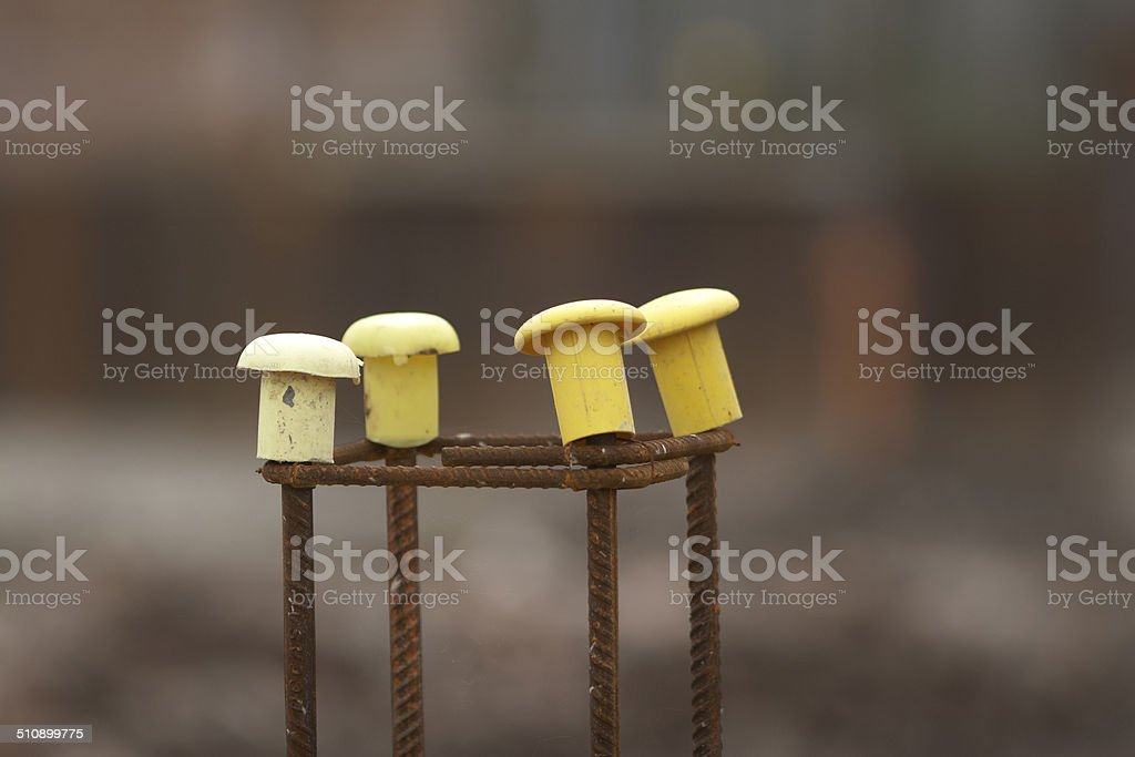 Construction SIte Ground Work Steel Frame stock photo