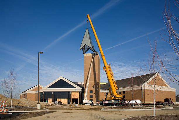construction site horizontal stock photo