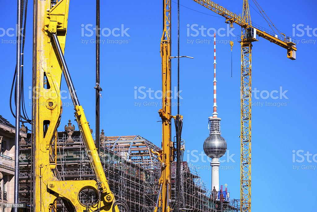 Construction site in Berlin royalty-free stock photo