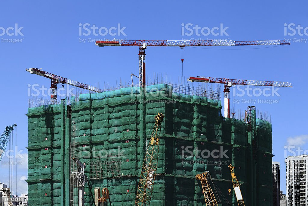 Construction Site in Hong Kong royalty-free stock photo