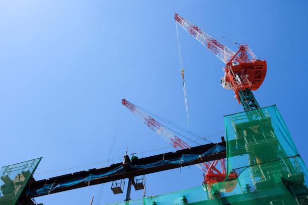 日本の建設現場。 ストックフォト