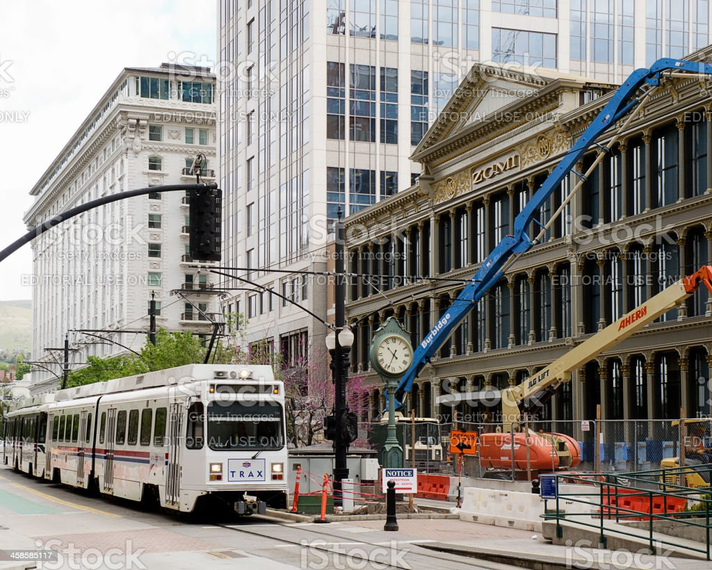 Construction Site in Salt Lake City royalty-free stock photo