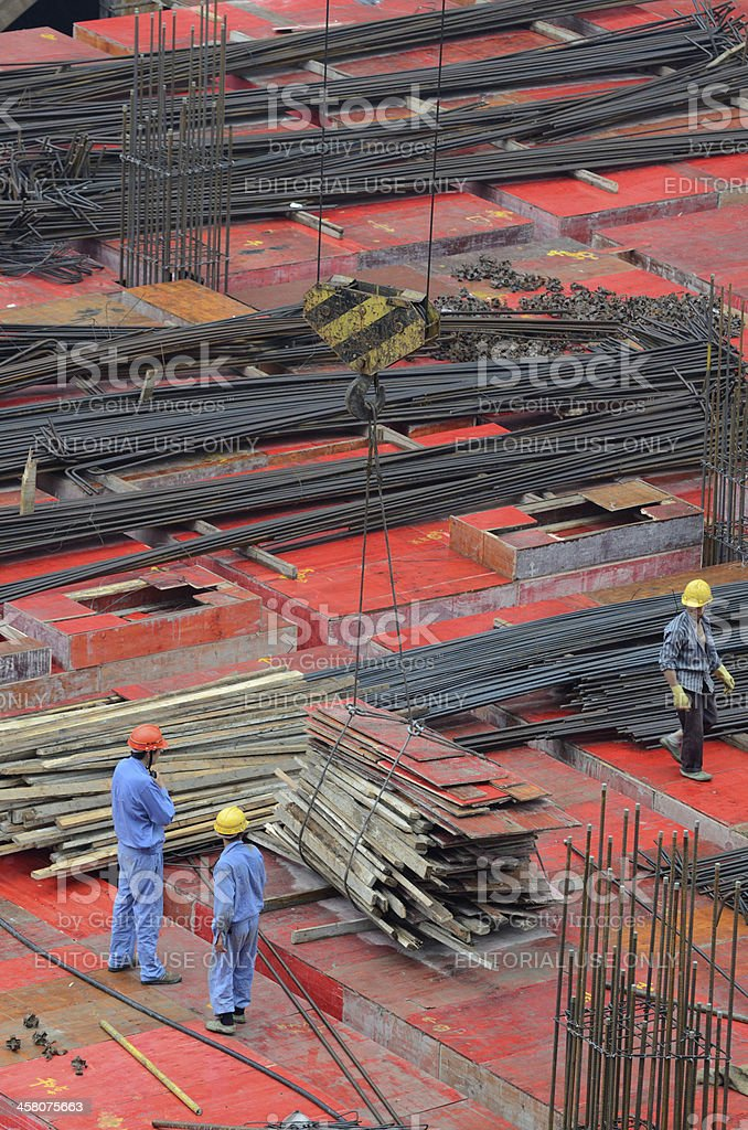 Construction site in Shanghai. royalty-free stock photo