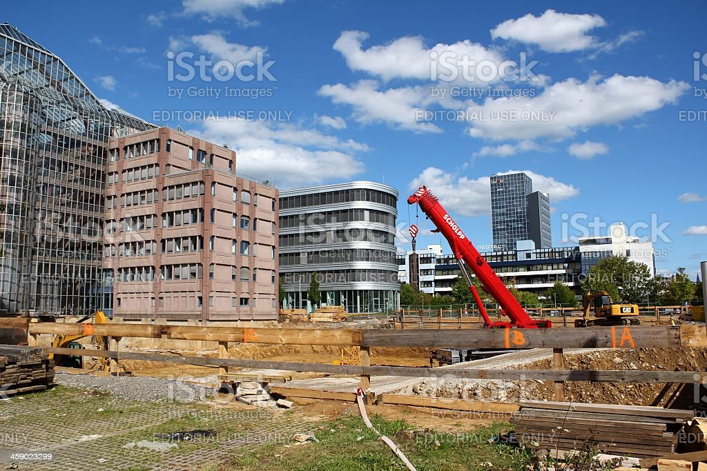 Construction site in Stuttgart royalty-free stock photo