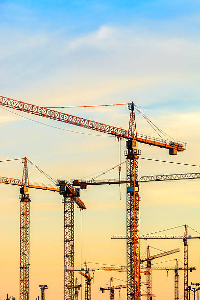 Construction site in Vienna stock photo