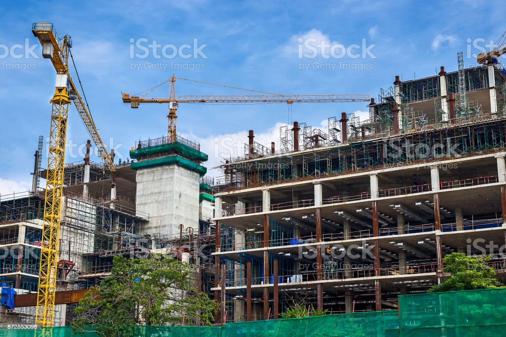 Construction site industry. stock photo