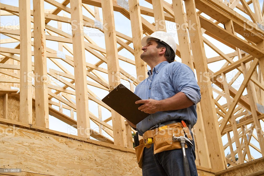 Construction Site Inspection royalty-free stock photo