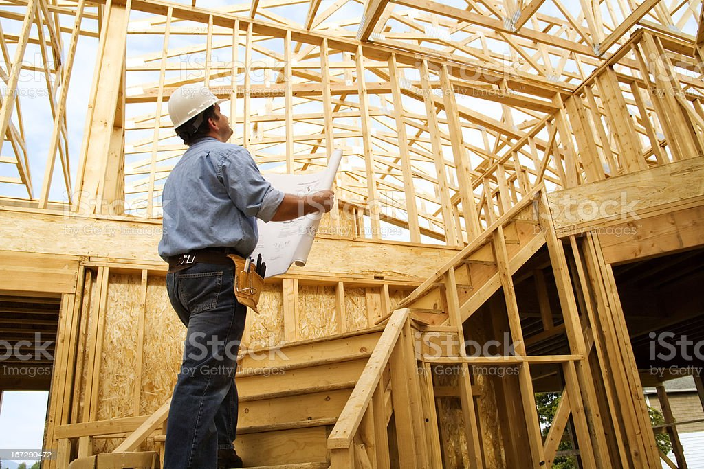 Construction Site Inspection stock photo