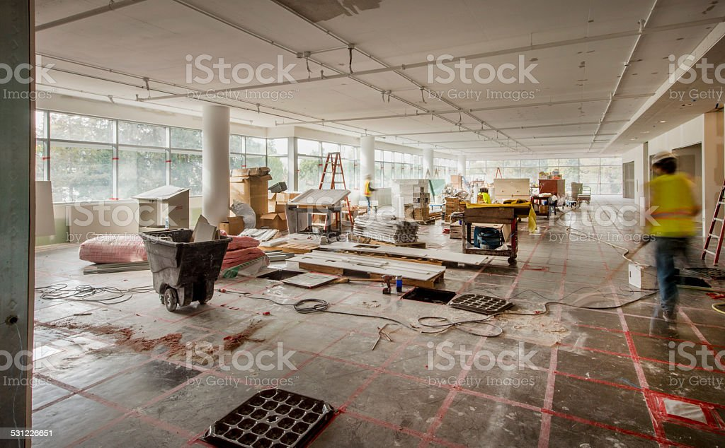 Construction Site Interior stock photo