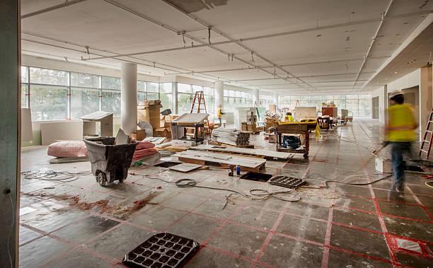 Construction Site Interior stock photo