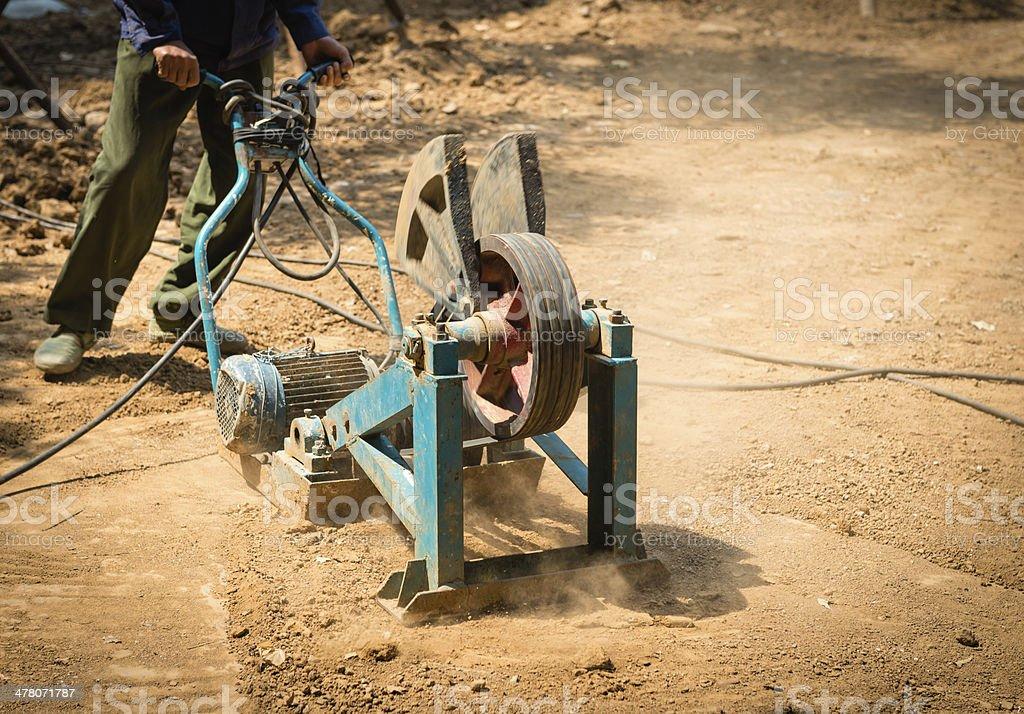 Construction Site Land leveling stock photo