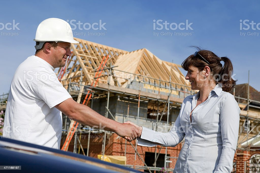 Construction Site Meeting royalty-free stock photo