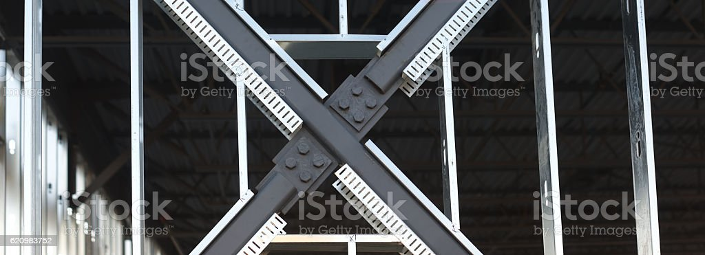 construction site metal beam structure foto royalty-free