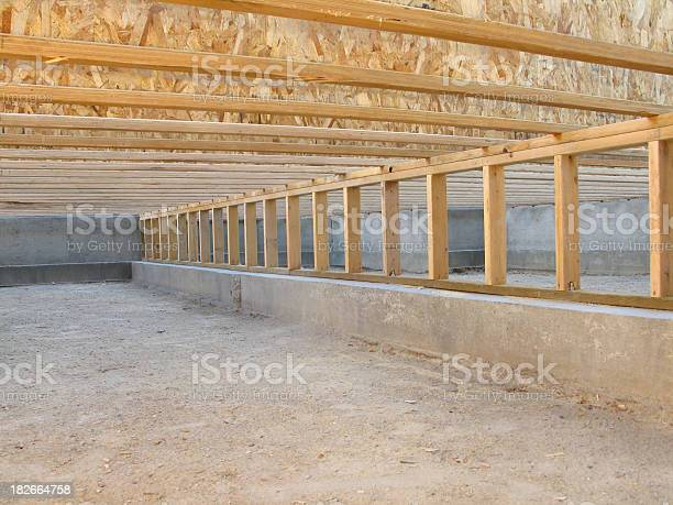 Construction site neat clean crawlspace floor joists and pony wall picture id182664758?b=1&k=6&m=182664758&s=612x612&h=j9ftt d1rjojubholzmpmmrnv3ziymf8nr0z5lc7ups=