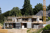 """""""Construction site of a modern, luxury one-family house. (Germany)"""""""