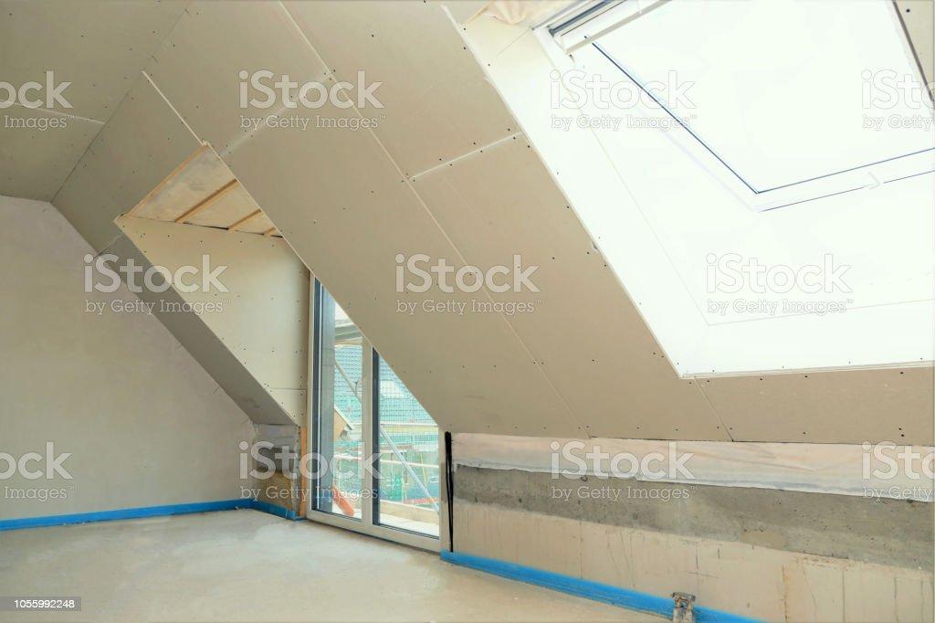 Baustelle ein Dachboden-Konvertierung – Foto