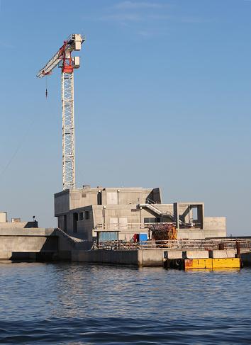 보호 아래 섬에 모바일 댐 건설 현장 0명에 대한 스톡 사진 및 기타 이미지